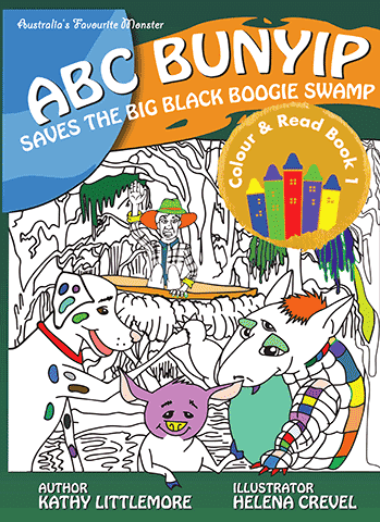 ABC Bunyip Saves the Big Black Boogie Swamp Colour and Read Book 1